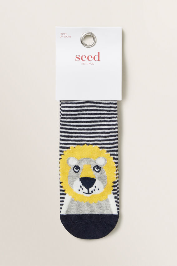 Lion Socks  NAVY  hi-res