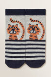 Tiger Socks, GREY MARLE, hi-res