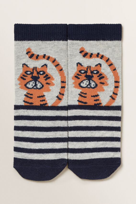 Tiger Socks  GREY MARLE  hi-res