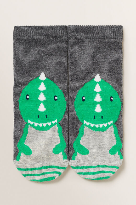 Dino Socks  CHARCOAL MARLE  hi-res