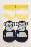 Monkey Socks, YELLOW, hi-res