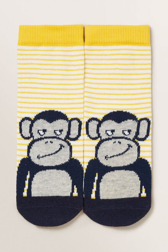 Monkey Socks  YELLOW  hi-res
