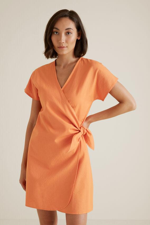 Wrap Around Mini Dress  SOFT CORAL  hi-res
