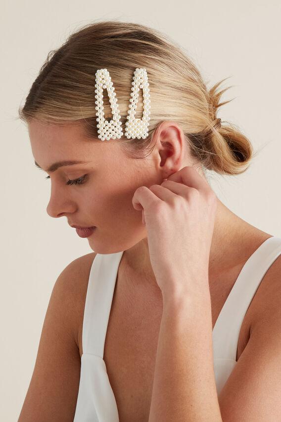 Pearl Hair Clips  PEARL  hi-res