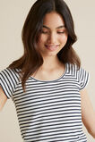 Scoop Rib Top  MIDNIGHT STRIPE  hi-res