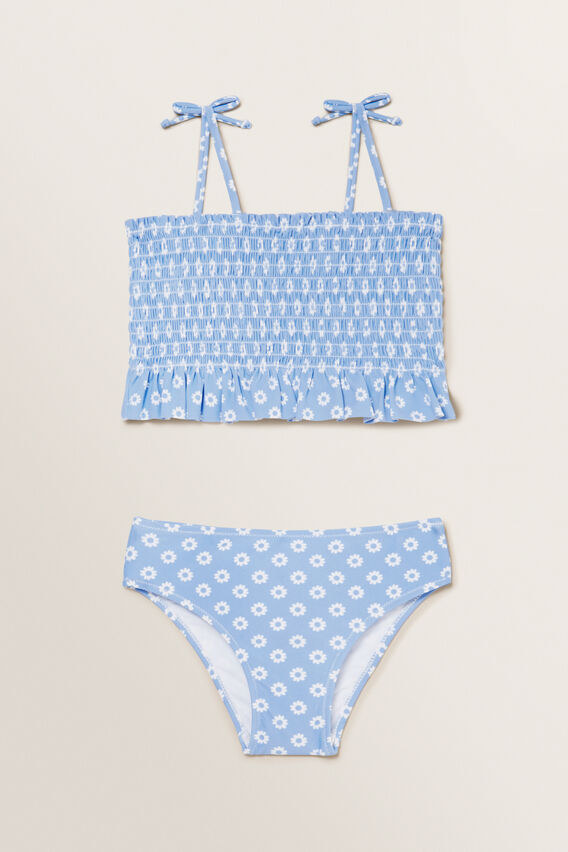 Shirred Ditsy Bikini  BLUEBELL  hi-res