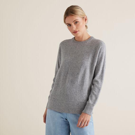 Flecked Sweater  STEEL GREY MARLE  hi-res