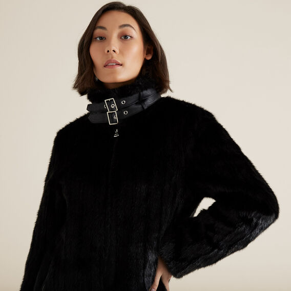 Faux Fur Jacket  BLACK  hi-res