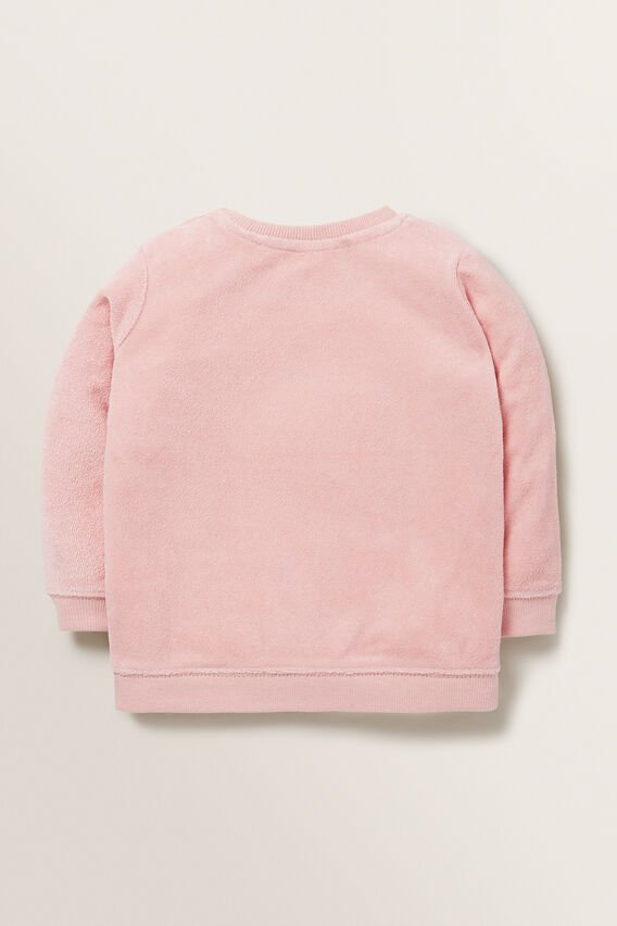 Terry Towelling Windcheater  DUSTY ROSE  hi-res