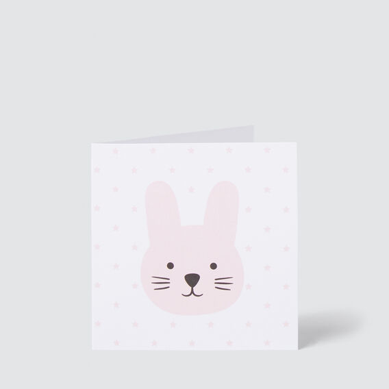 Small Pink Bunny Card  MULTI  hi-res