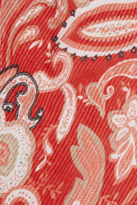 Paisley Print Scarf  BOLD POPPY  hi-res
