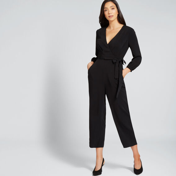 Tie Up Jumpsuit  BLACK  hi-res