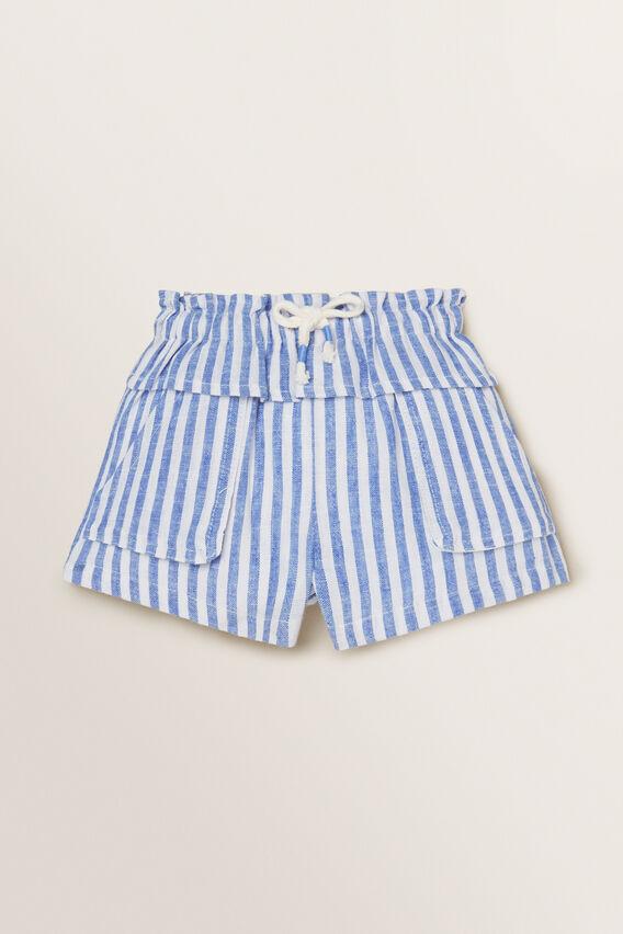 Stripe Shorts  WHITE/OCEAN BLUE  hi-res