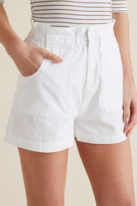 Relaxed Patch Pocket Short  WHISPER WHITE  hi-res