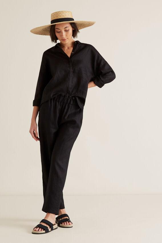 Classic Linen Shirt  BLACK  hi-res