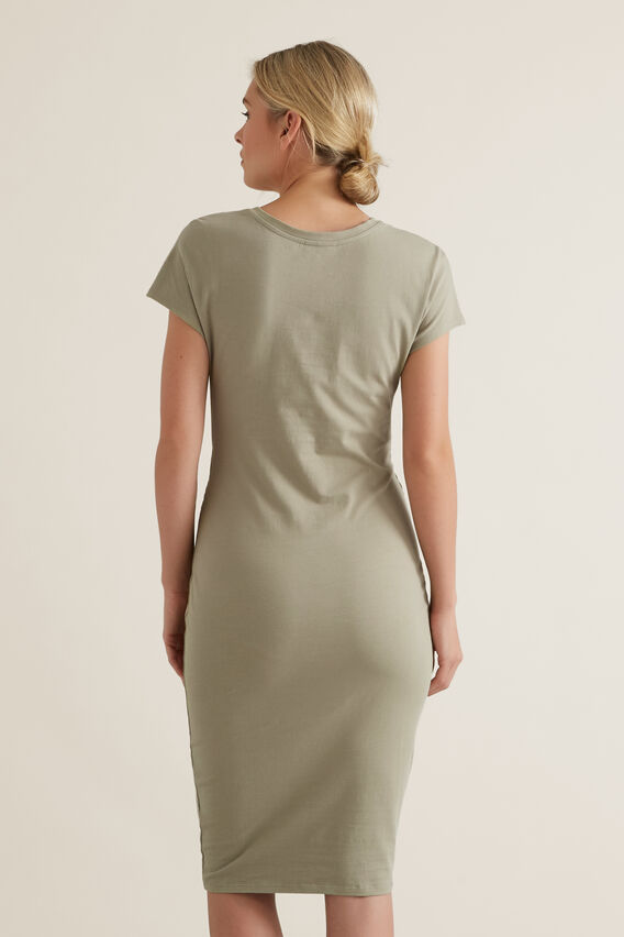 Twist Detail Dress  WASHED OLIVE  hi-res