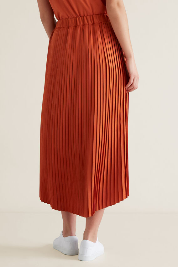 Pleated Skirt  SUNBURNT ORANGE  hi-res