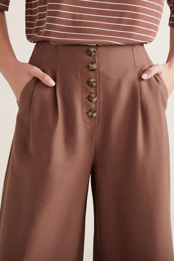 Button Through Pants  WASHED ROSE  hi-res