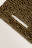 Weave Straw Clutch  RICH MOSS  hi-res