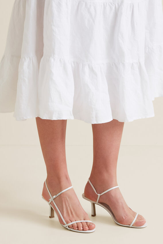 Ashley Heeled Sandal  WHITE  hi-res