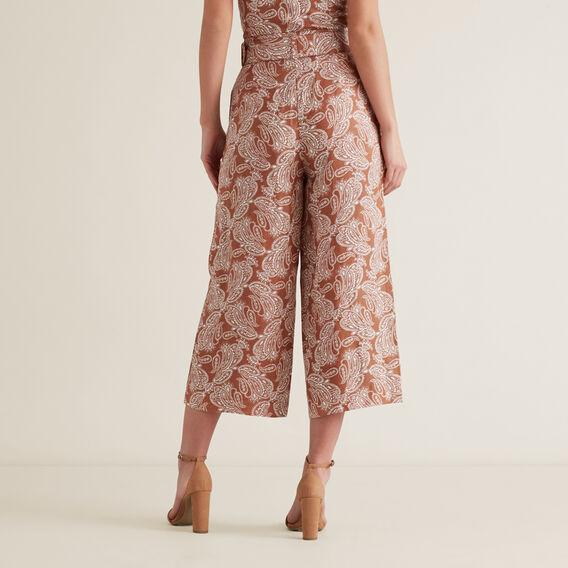 OCT BELTED TROUSER  WASHED APRICOT PAISL  hi-res