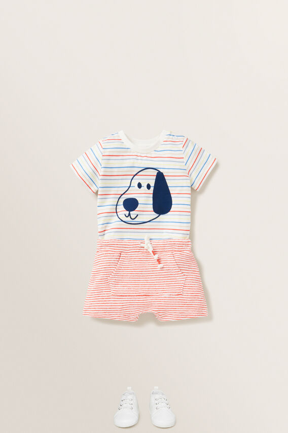 Puppy Print Tee  MULTI  hi-res