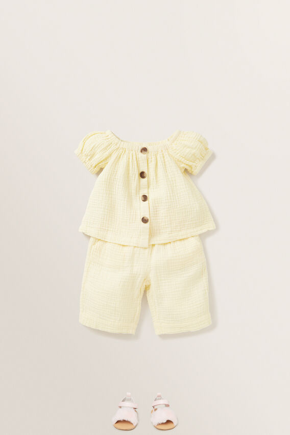 Cheesecloth Culottes  LEMON  hi-res