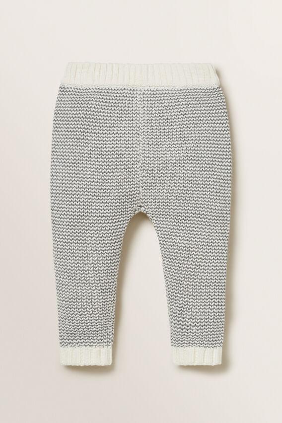 Stripe Knitted Pant  SLATE MARLE  hi-res
