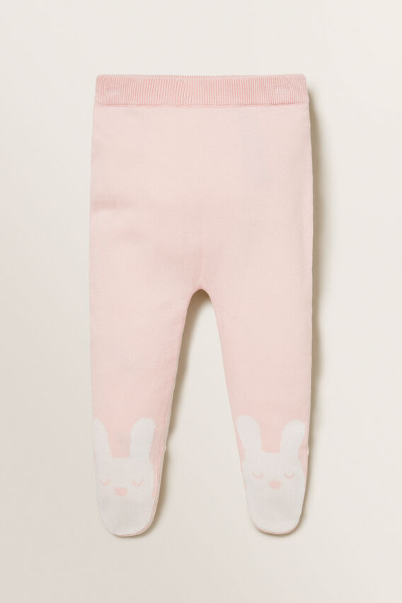 Footed Knitted Legging  PRETTY PINK  hi-res