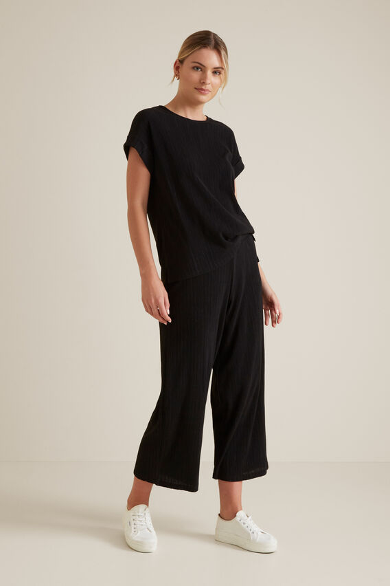 Micro Pleat Pant  BLACK  hi-res