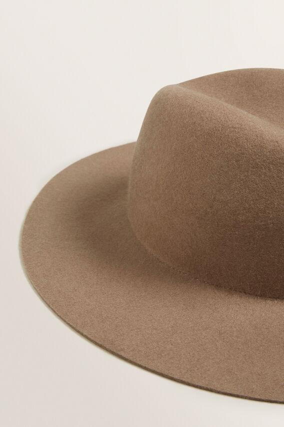 Clean Wide Brim Panama  BROWNIE  hi-res