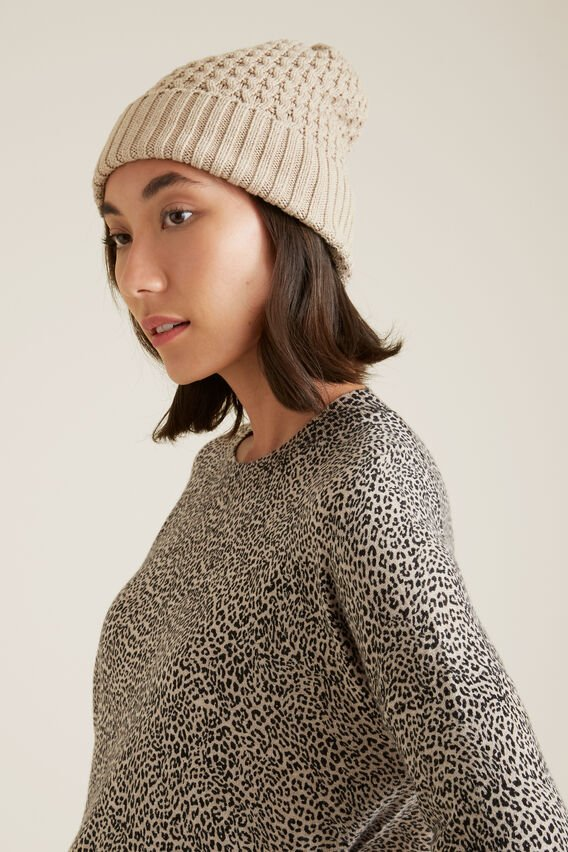 Honeycomb Knit Beanie  SANDY MARLE  hi-res