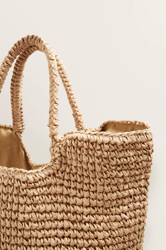 Oversized Straw Beach Bag  NATURAL  hi-res