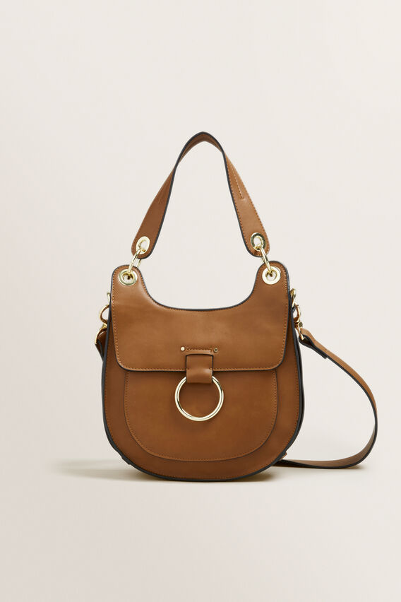 Maddie Saddle Bag  TAN  hi-res