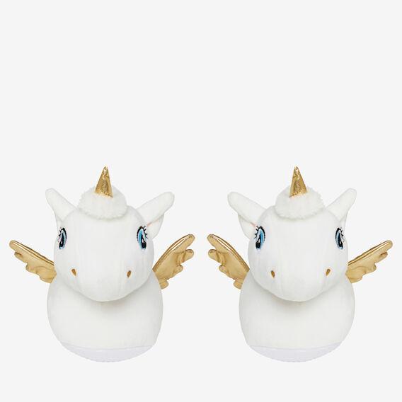 Unicorn Slippers  WHITE  hi-res