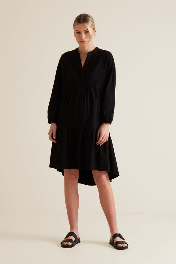 Relaxed Hi-Lo Dress  BLACK  hi-res