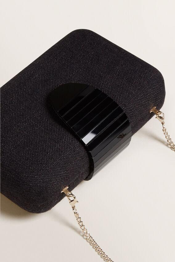 Textured Clutch  BLACK  hi-res