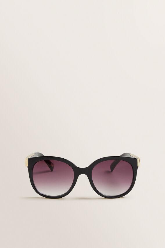 Sarah Round Sunglasses  BLACK  hi-res