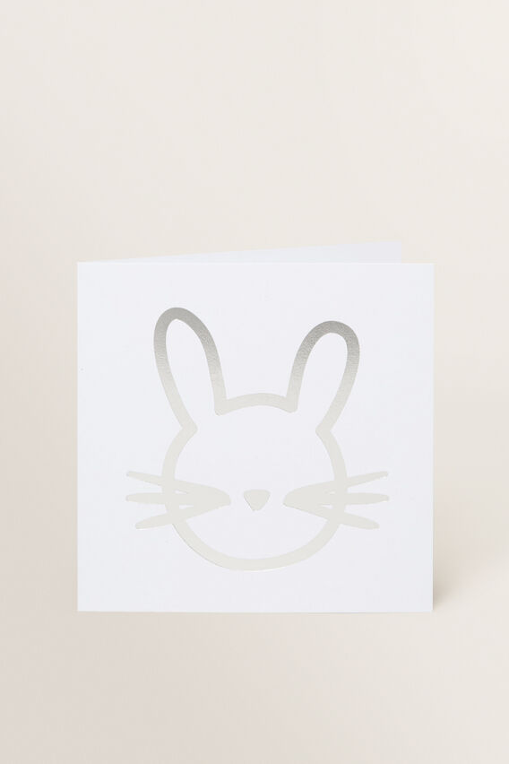 Large Bunny Face Card  MULTI  hi-res