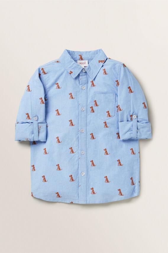 Print Shirt  CORNFLOWER BLUE  hi-res