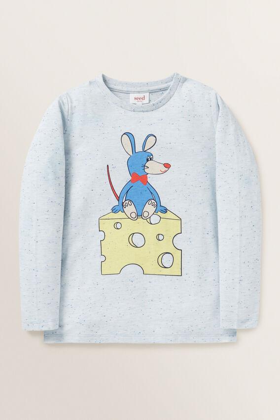 Mouse Print Tee  BLUE SPECKLE  hi-res