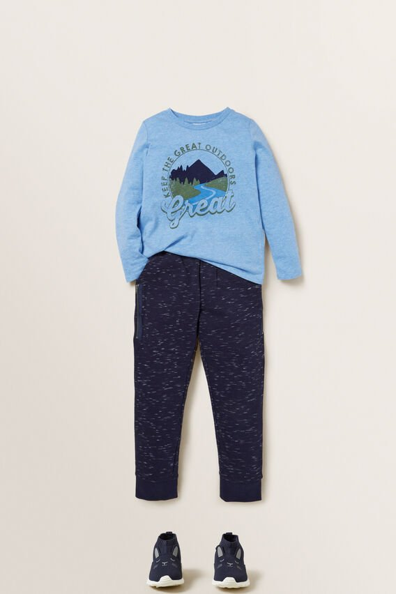 Zip Pocket Trackpant  MIDNIGHT SPACE DYE  hi-res