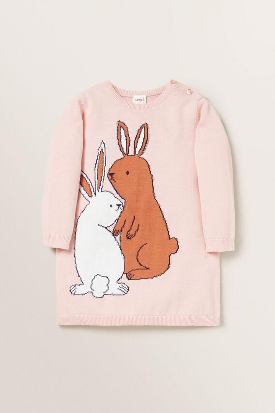 Bunny Knit Dress  DUSTY ROSE  hi-res