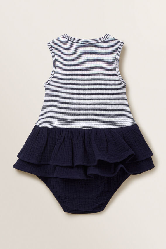 Cheesecloth Romper  NAVY  hi-res