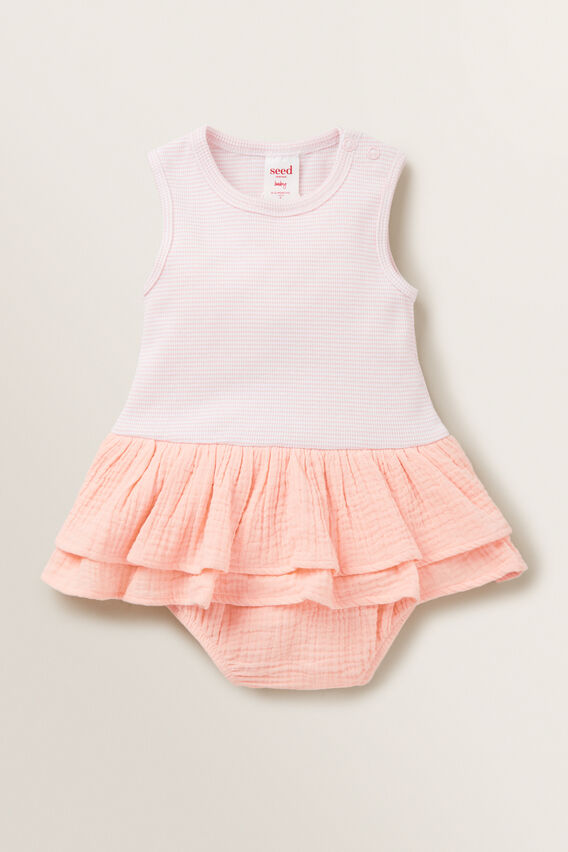 Cheesecloth Romper  DUSTY ROSE  hi-res