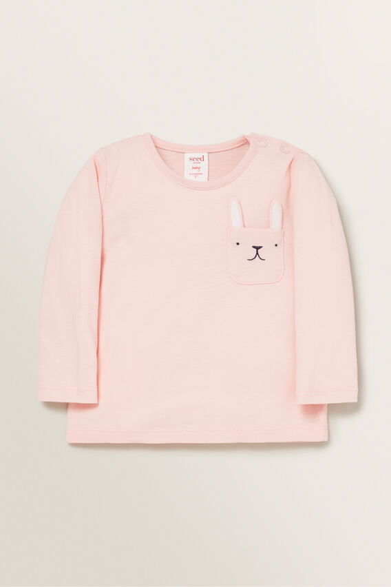 Bunny Pocket Tee  DUSTY ROSE  hi-res