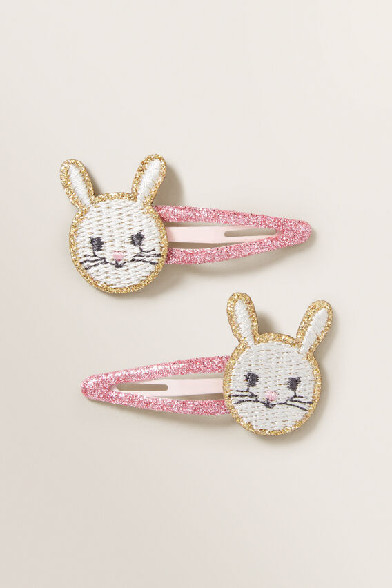 Embroidered Bunny Snaps  MULTI  hi-res