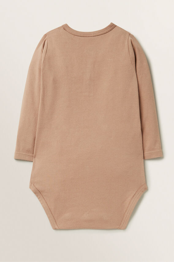 Henley Bodysuit  TEDDY BROWN  hi-res