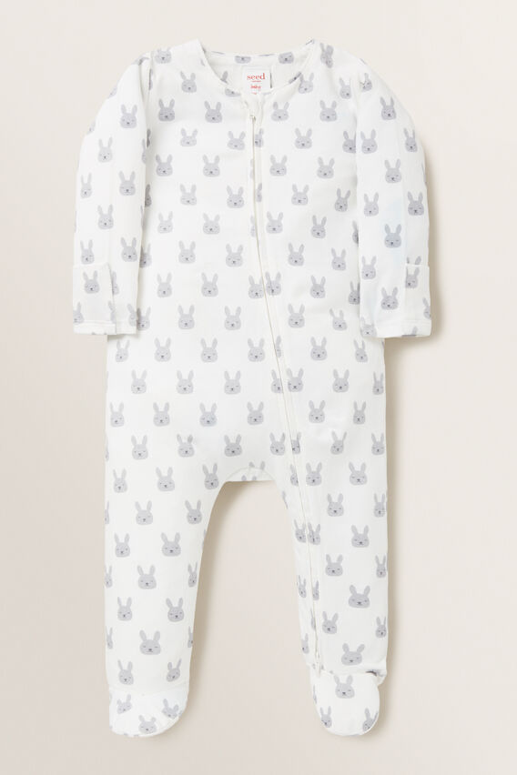 Bunny Footed Zipsuit  CANVAS  hi-res