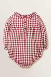 Gingham Frill Onesie  RUBY RED  hi-res